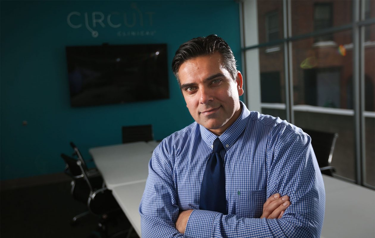 Dr. Irfan Khan has built a business around helping other doctors hold clinical trials. (Derek Gee/Buffalo News)