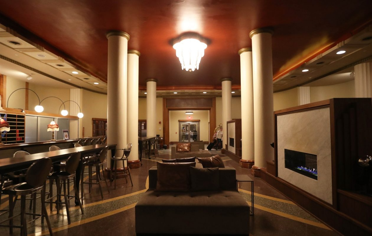 A look inside the Hotel @ The Lafayette, which developer Rocco Termini renovated with the help of historic tax credits. (Sharon Cantillon/News file photo)
