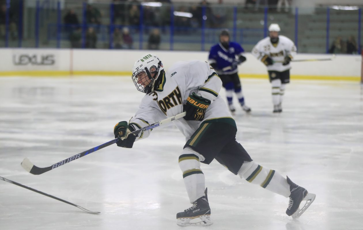 Brett Sardina and the Williamsville North Spartans are ranked first in the state and unbeaten through Friday's games.  (Harry Scull Jr./ Buffalo News)