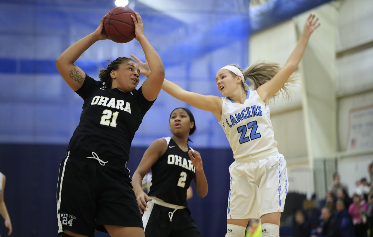 Kiara Johnson and Cardinal O'Hara are the unanimous No. 1 large school in this week's girls basketball poll. St. Mary's is No. 10. (Harry Scull Jr./Buffalo News)