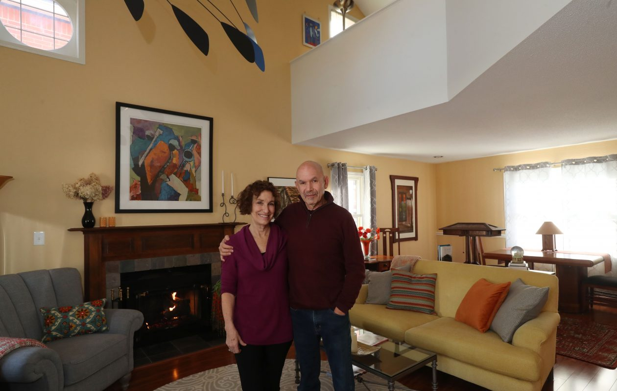 Nancy and Steve Siegel in their Buffalo home. (Sharon Cantillon/Buffalo News)