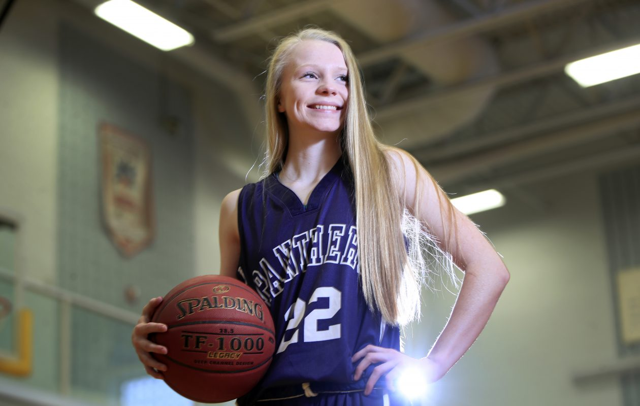 Dani Haskell of Franklinville basketball is the Prep Talk Female Athlete of the Week. (Harry Scull Jr./ Buffalo News)