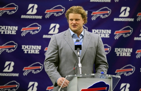 Buffalo Bills center Eric Wood's press conference