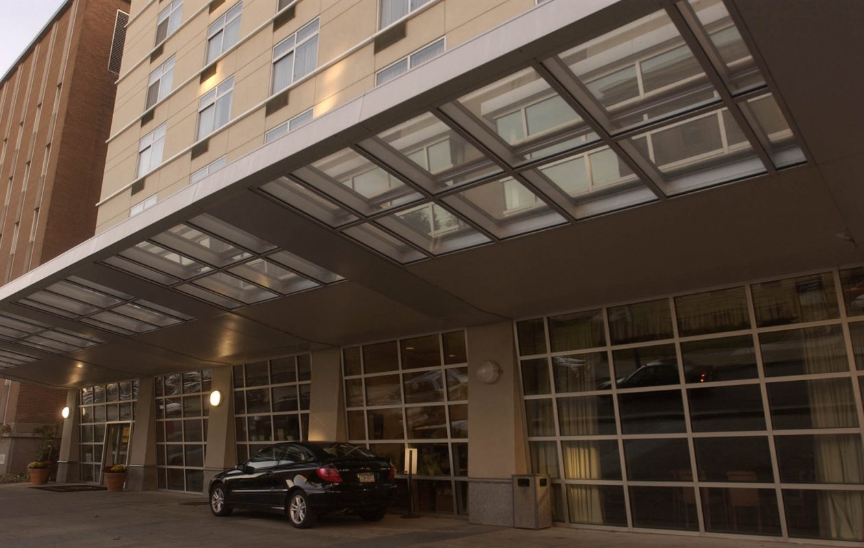 The DoubleTree Club hotel on High Street is being rebranded as a Wyndham Garden Hotel. (Derek Gee/Buffalo News file photo)