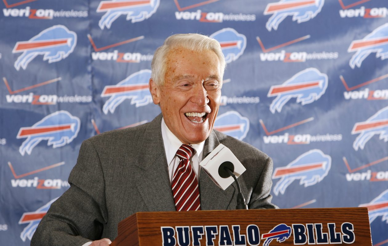 Marv Levy, photographed during his time as Buffalo Bills general manager, was elated to see the Bills make the playoffs. (James P. McCoy/Buffalo News)