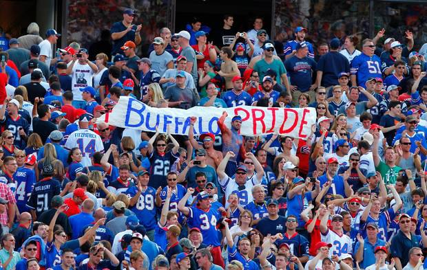 Bills fans have a strong presence whenever the team plays in Jacksonville. But Sunday's playoff game will be on another level. (Photo contributed by Bills Backers of Jacksonville).