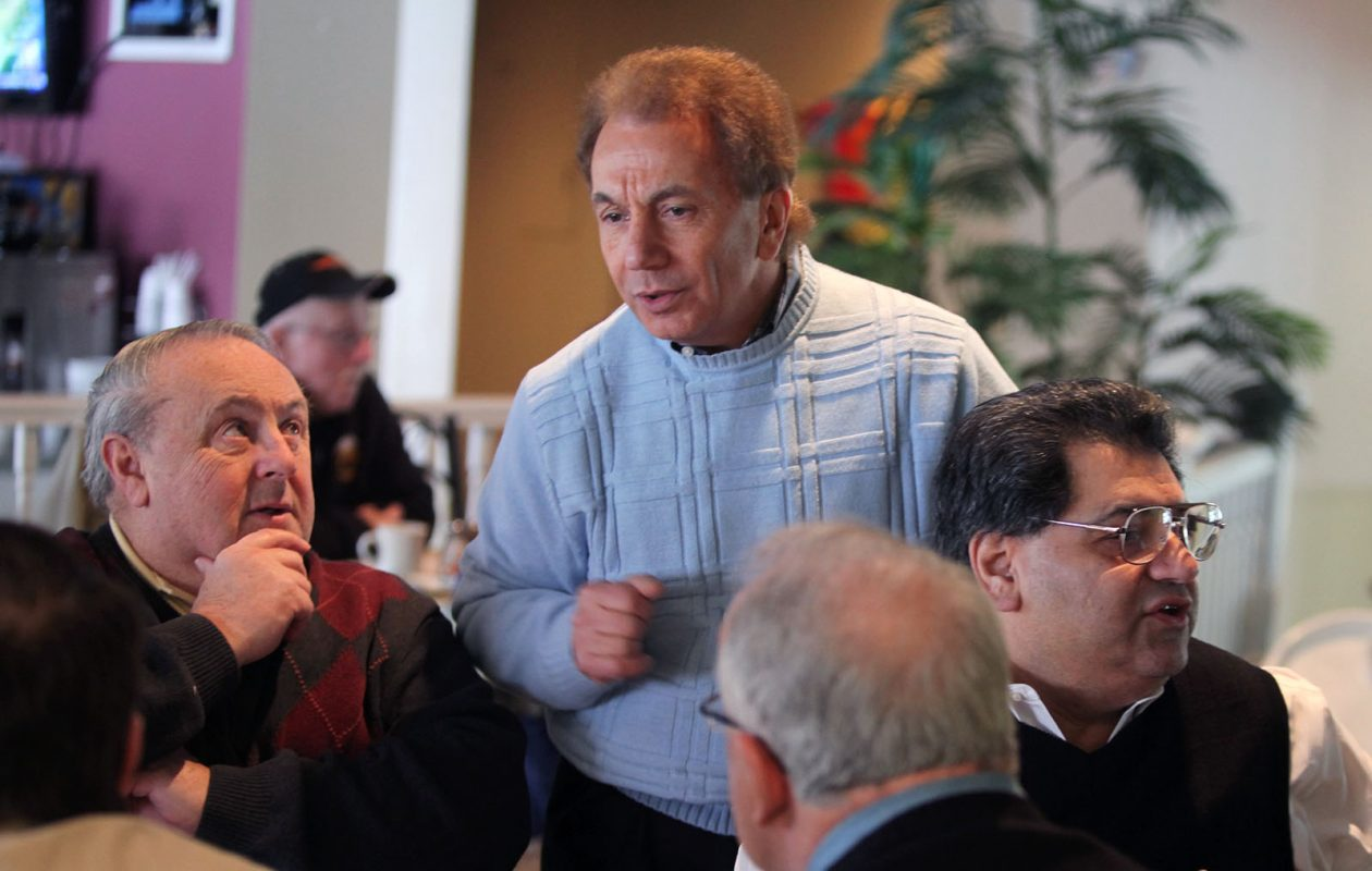 Ralph Lorigo — shown here, center, during a 2010 breakfast with Ray Gallagher, left, and Hormoz Mansouri — helped engineer Acea Mosey's successful campaign for Erie County Surrogate judgeship. (News file photo)