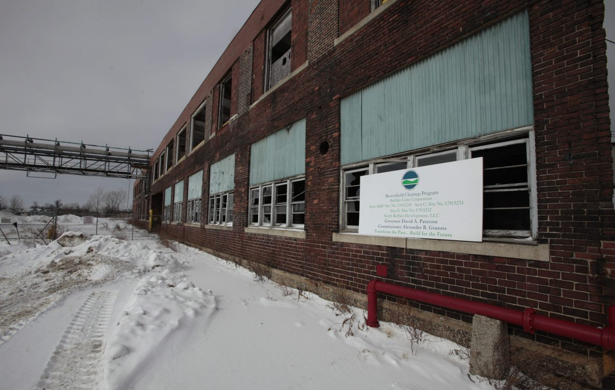 The site where the athletic complex will be built is part of the larger 21.7-acre Buffalo Color property at Elk at Lee streets. (Derek Gee/Buffalo News file photo)