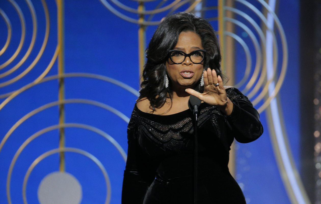 Oprah Winfrey accepts the 2018 Cecil B. DeMille Award during the 75th Annual Golden Globe Awards at the Beverly Hilton Hotel on Jan. 7, 2018 in Beverly Hills, Calif.  (NBCUniversal via Getty Images)