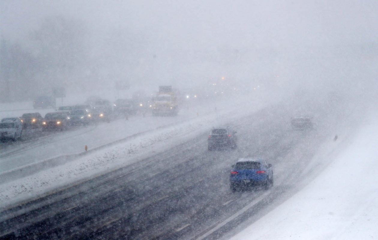 Traffic was backed up on I-90 on Jan. 2 as a result of the crash earlier in the day. (Sharon Cantillon/Buffalo News)