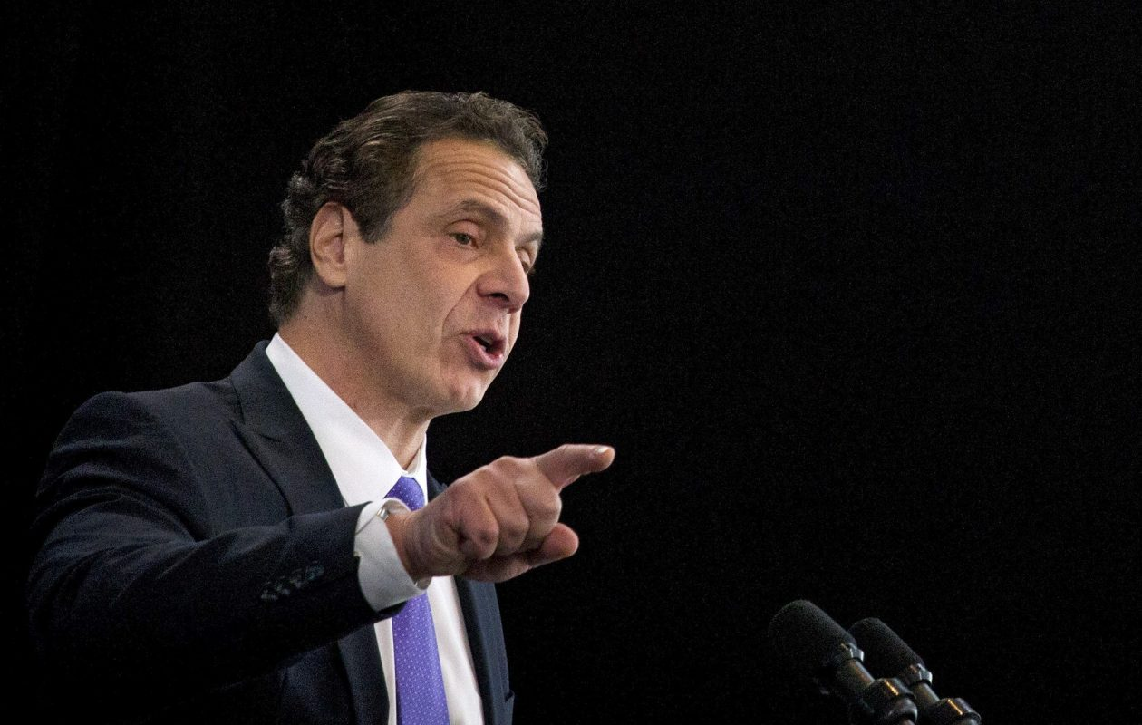 """""""This year is going to be challenging, my friends,"""" Gov. Andrew Cuomo said as he unveiled his 2018 state budget.  (New York Times file photo)"""