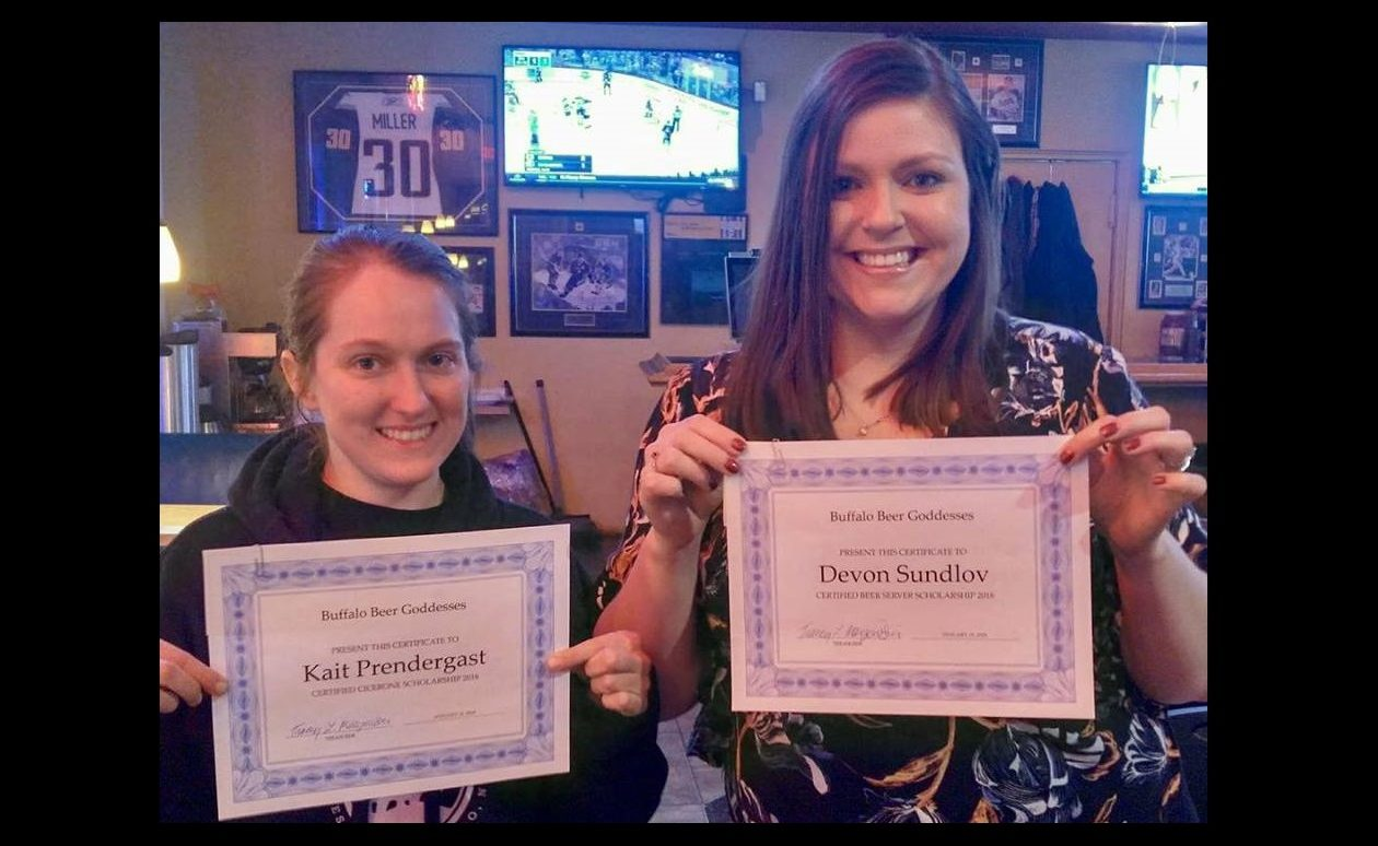Kait Prendergast, left, and Devon Sundlov have both earned Cicerone Scholarships from BBG. (via Goddesses)