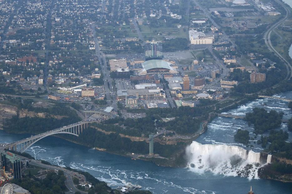 An aerial view of downtown Niagara Falls. (News file photo)