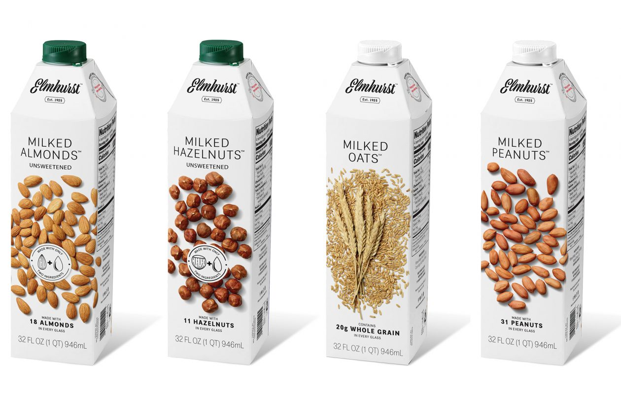 The four original flavors from Elmhurst Millked are walnut, almond, hazelnut and cashew. New flavors, including milked peanuts and unsweetened varieties. (Contributed photo)