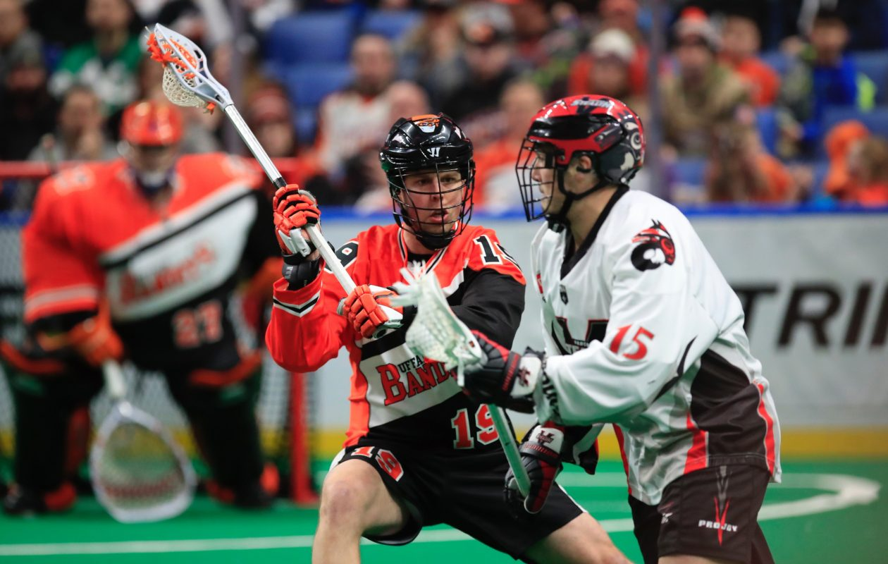 Bandits defenseman Zac Reid played in his fourth game with the Bandits Saturday against the Vancouver Stealth (Harry Scull, Jr / Buffalo News)