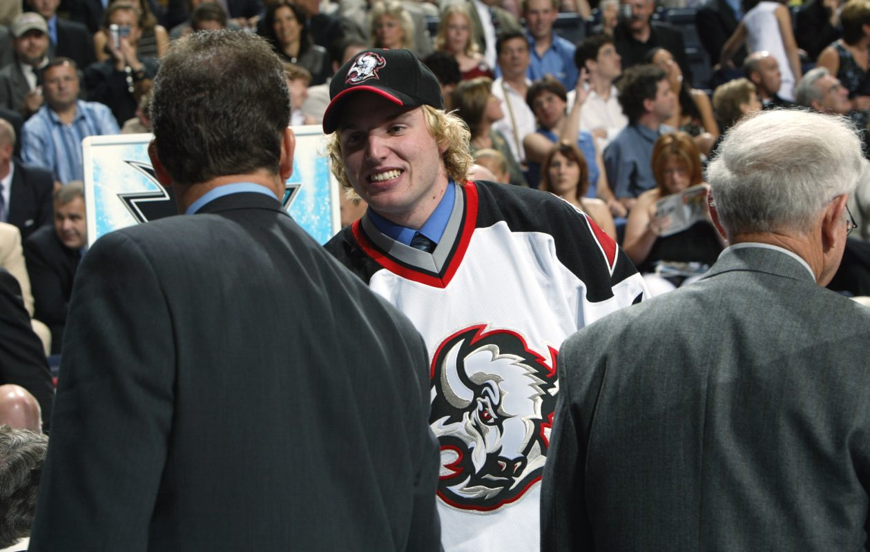 The Sabres selected Thomas Vanek with the No. 5 pick in the 2003 NHL Draft, and he's among the leaders of his class. (Getty Images/NHLI)