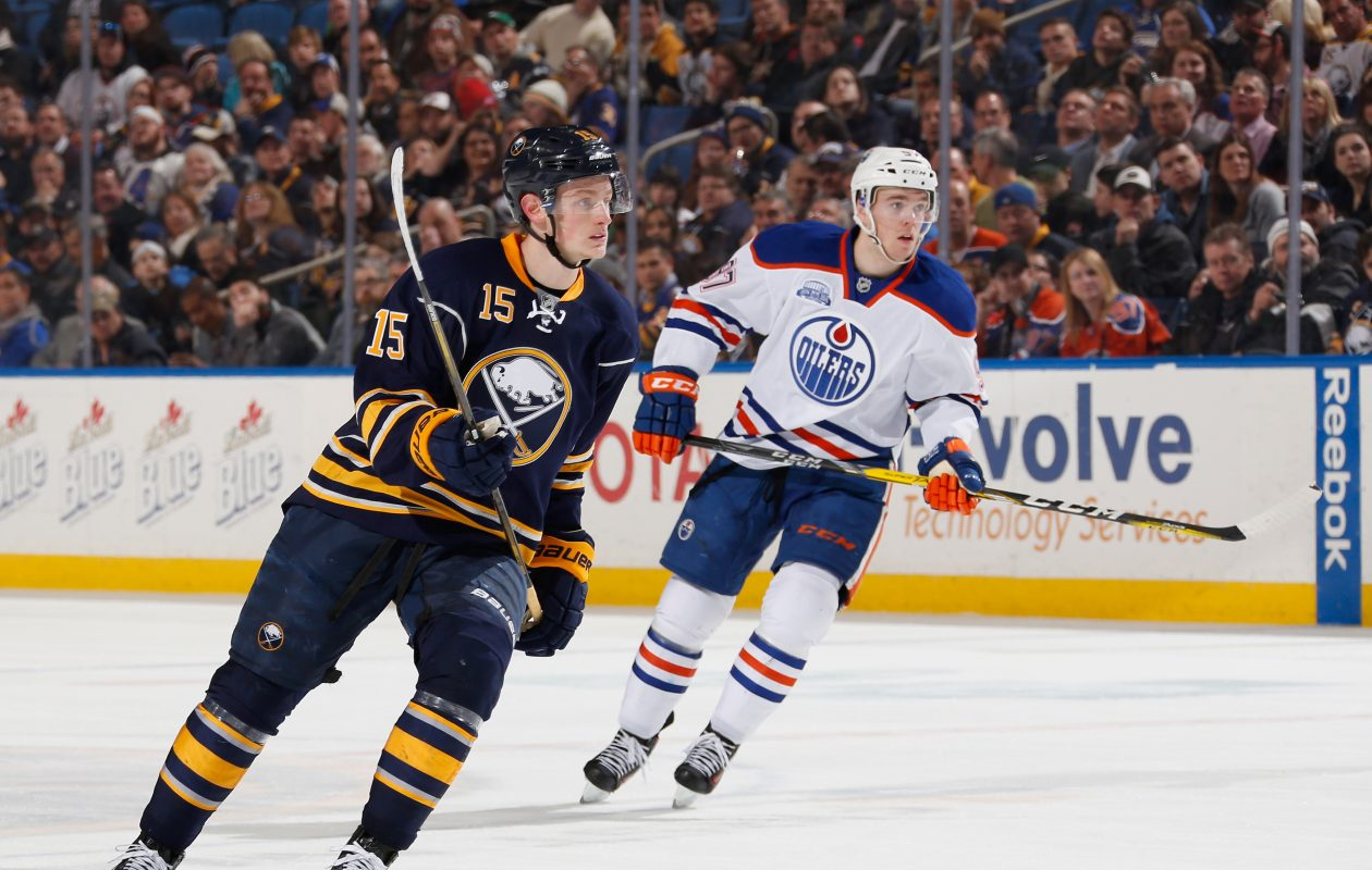 Individual success continues for the Sabres' Jack Eichel and Edmonton's Connor McDavid, but team success hasn't been there this season. (Getty Images)