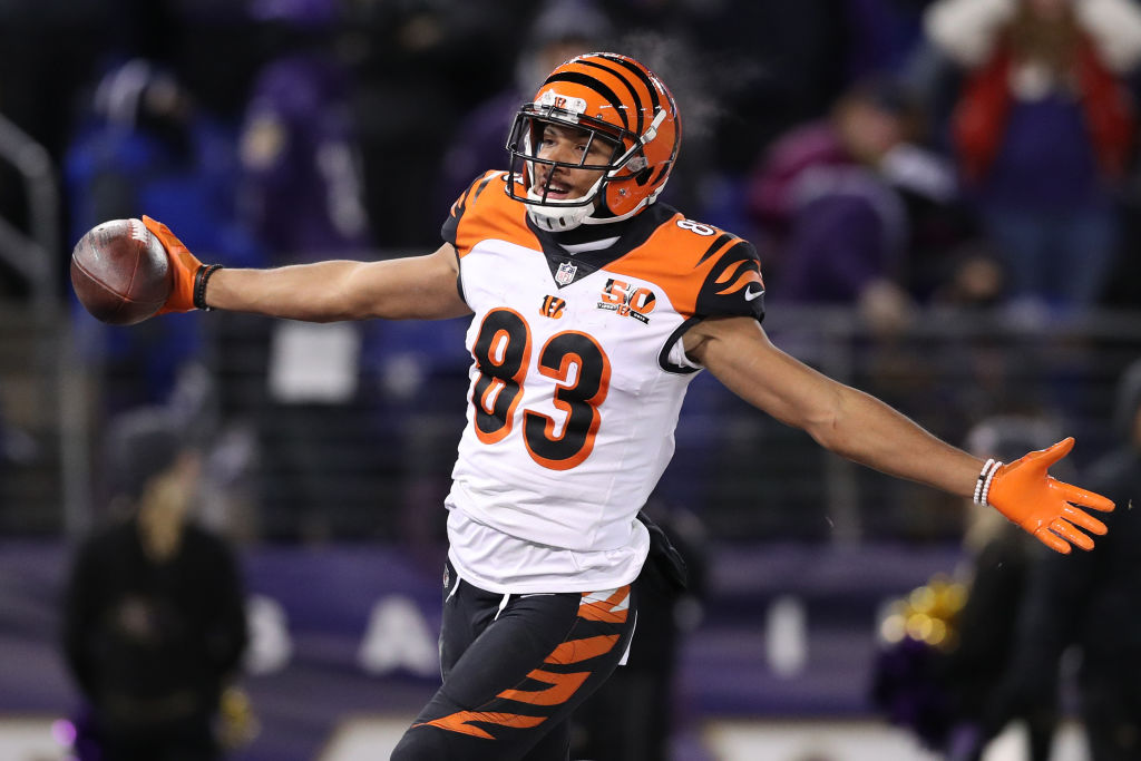 Bengals wide receiver Tyler Boyd caught the ball and made the moves that got him into the end zone — and the Buffalo Bills into the playoffs. (Getty Images)
