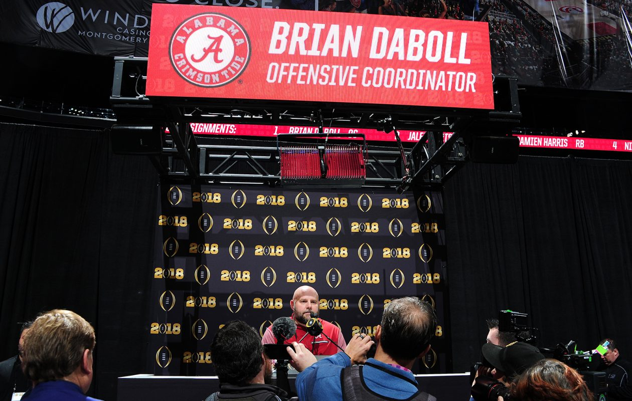 Brian Daboll during his time as offensive coordinator for the Alabama Crimson Tide. (Scott Cunningham/Getty Images file photo)