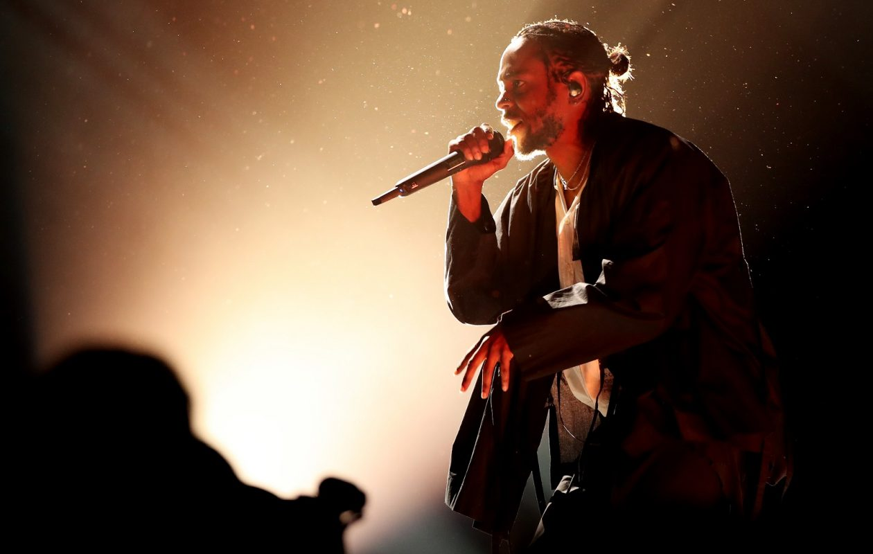Kendrick Lamar performs at the 60th annual Grammy Awards. (Christopher Polk/Getty Images)