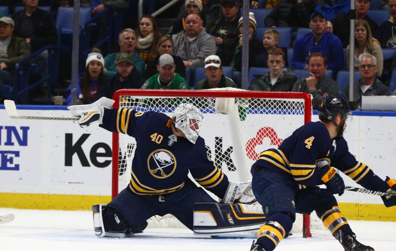 Robin Lehner has not allowed a goal in 119 minutes, 26 seconds.  (James P. McCoy/Buffalo News)