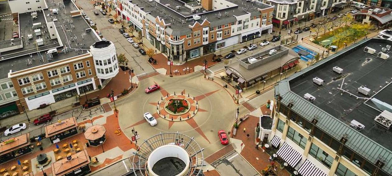 An image of Crocker Park Lifestyle Center near Cleveland, Ohio. The Town of Clarence is hoping developers will transform Eastern Hills Mall and possibly other sites into designed town centers like this.  (Provided by Town of Clarence)