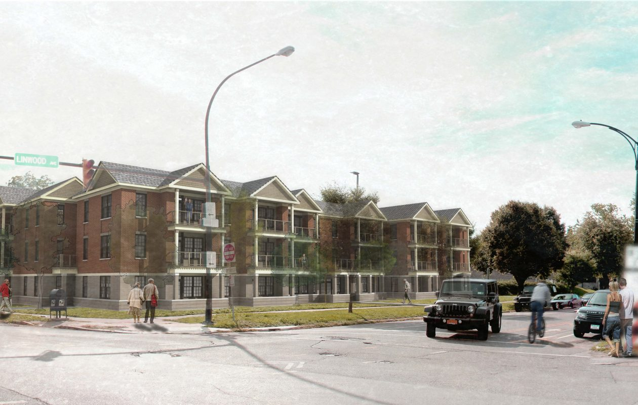 People Inc.'s proposed 37-unit senior housing project at 637 Linwood Ave.