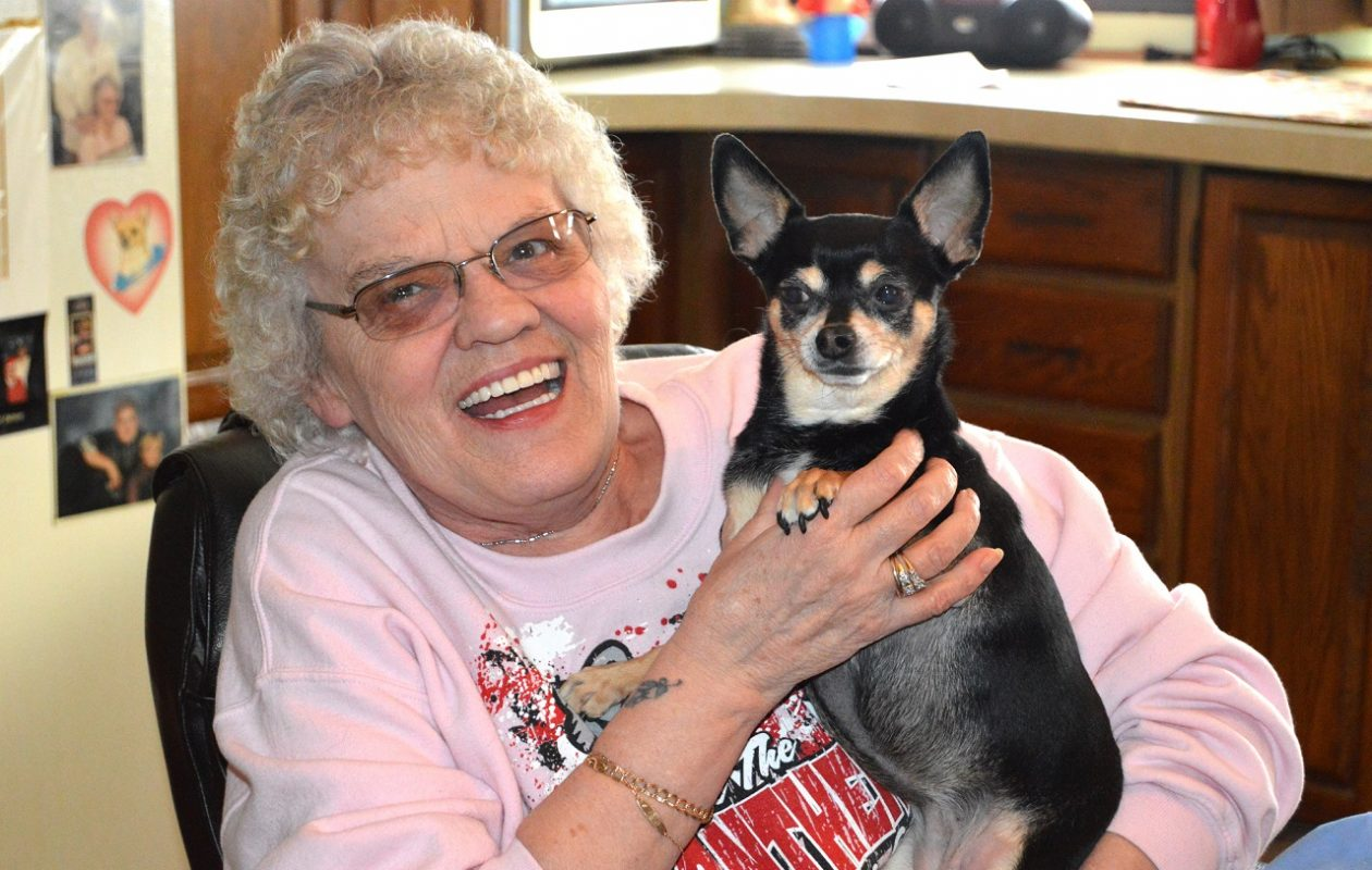 "Mary Miller, of West Seneca, quit smoking in early November. ""Now, I can get out and go for a walk around the neighborhood with my little doggie,"" she says.  (Anthony Astran/Special to the News)"