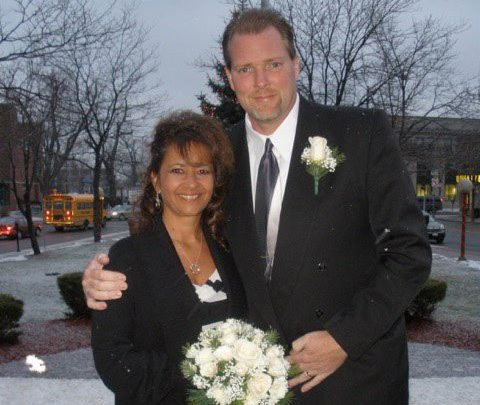 Tammy Cleveland, pictured with her late husband, Michael.