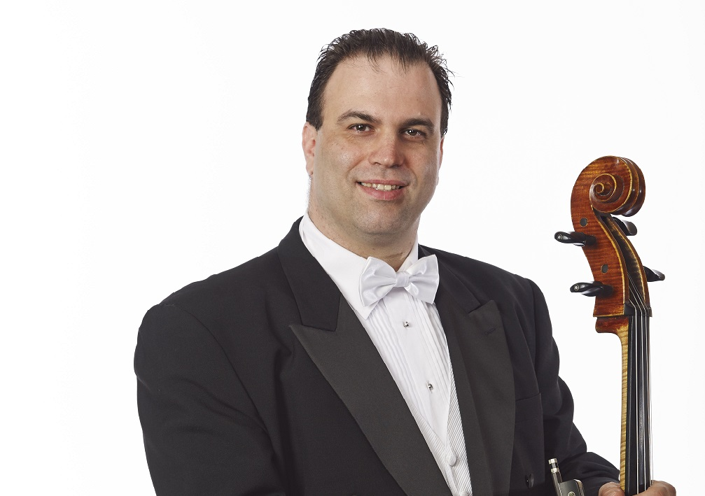 Roman Mekinulov is performing Saint-Saens' Cello Concerto No. 1. (Photo by Biff Hendricks.)