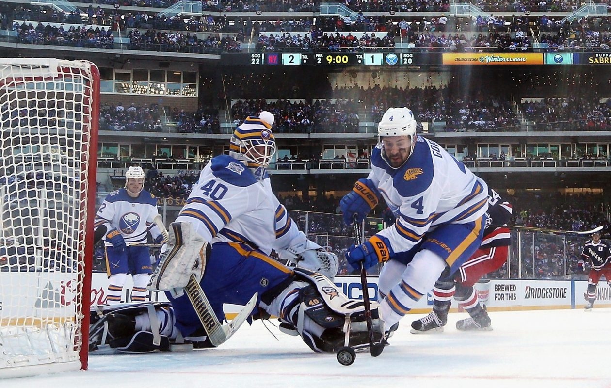The Buffalo Sabres' doldrums may have played a role in the team's low TV rating for the Winter Classic. (Photo by Bruce Bennett/Getty Images)
