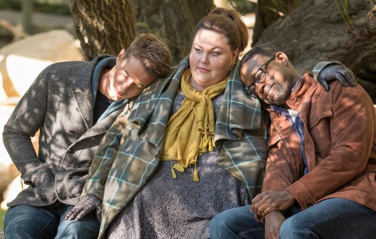 Justin Hartley as Kevin, Chrissy Metz as Kate and Sterling K. Brown as Randall in 'This Is Us.' (NBC)