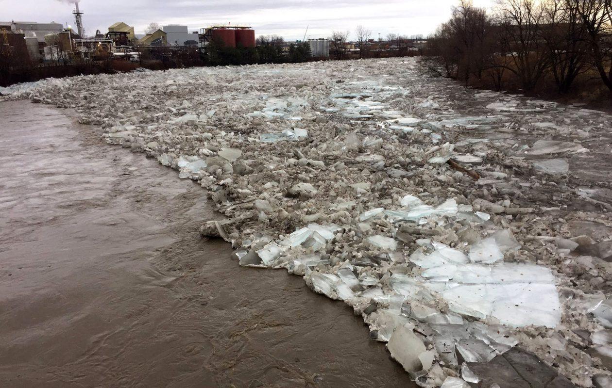 The Buffalo River near the South Park lift bridge. (Aaron Besecker/Buffalo News)