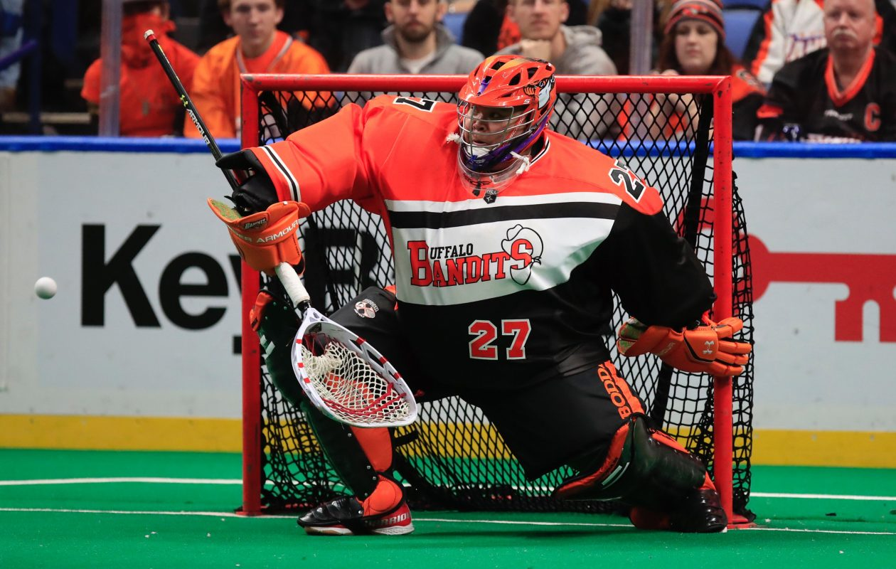 Alex Buque has started all five games for the Buffalo Bandits this season. (Harry Scull Jr. / Buffalo News)
