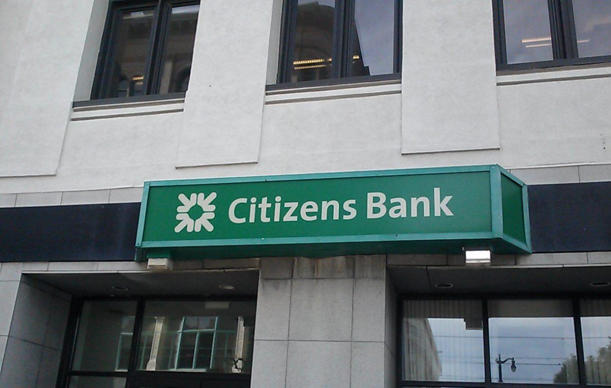 A Citizens Bank sign in downtown Buffalo. (Matt Glynn/Buffalo News)
