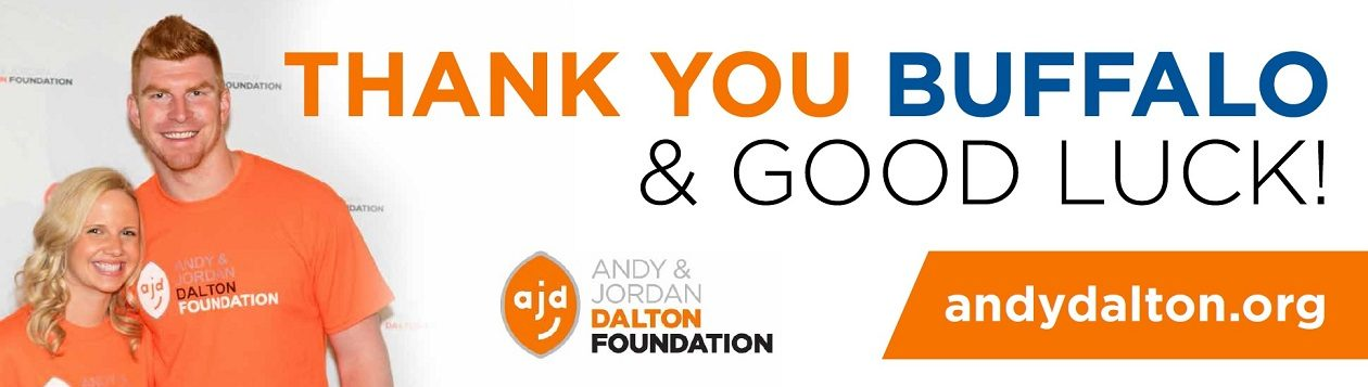 This billboard will be displayed around Buffalo for five days. (Courtesy Andy & Jordan Dalton Foundation)