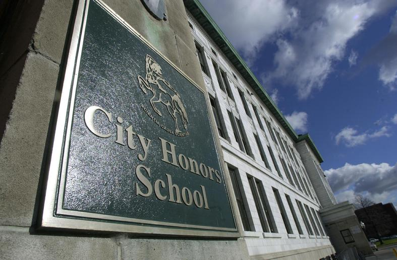 The Buffalo Public Schools and the teachers union were in court Wednesday in a dispute over whether teachers at City Honors School should have to handle non-teaching duties, such as monitoring the cafeteria and study halls. (Buffalo News file photo)