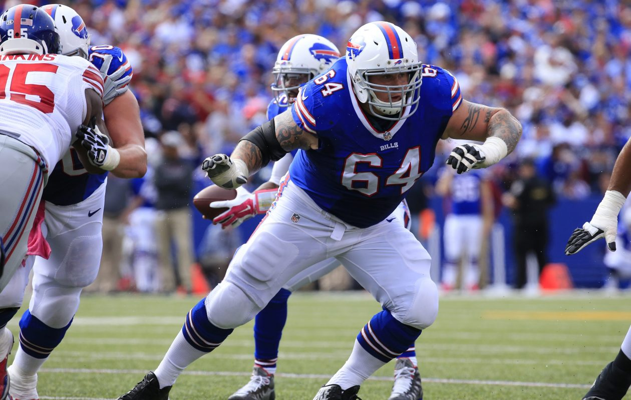 Richie Incognito was among a handful of Bills players who did not enter the locker room during the 75-minute period it was open to the media Monday morning.   (Harry Scull Jr./News file photo)