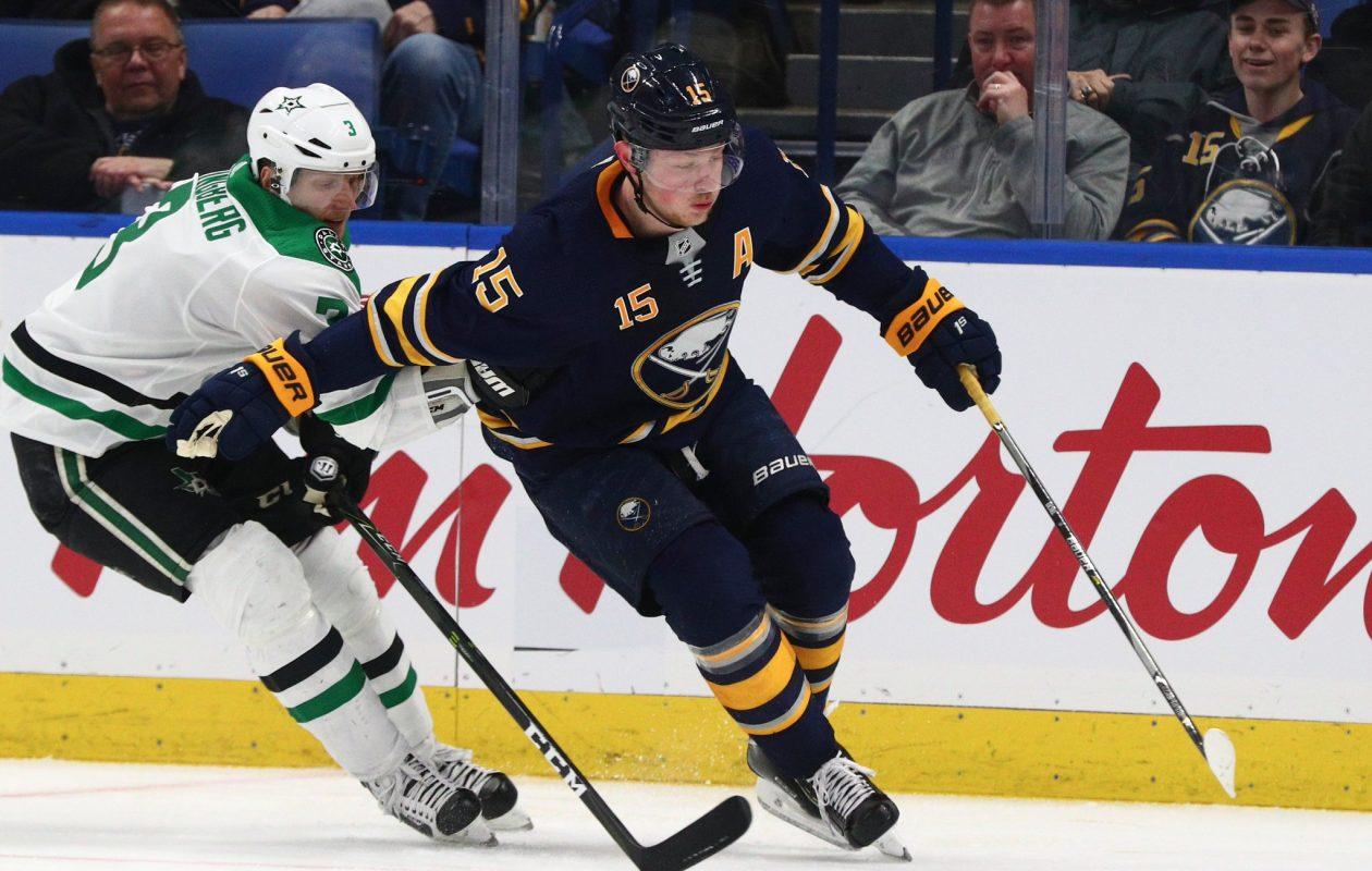 Will Jack Eichel make it back to the ice this season (James P. McCoy/Buffalo News)