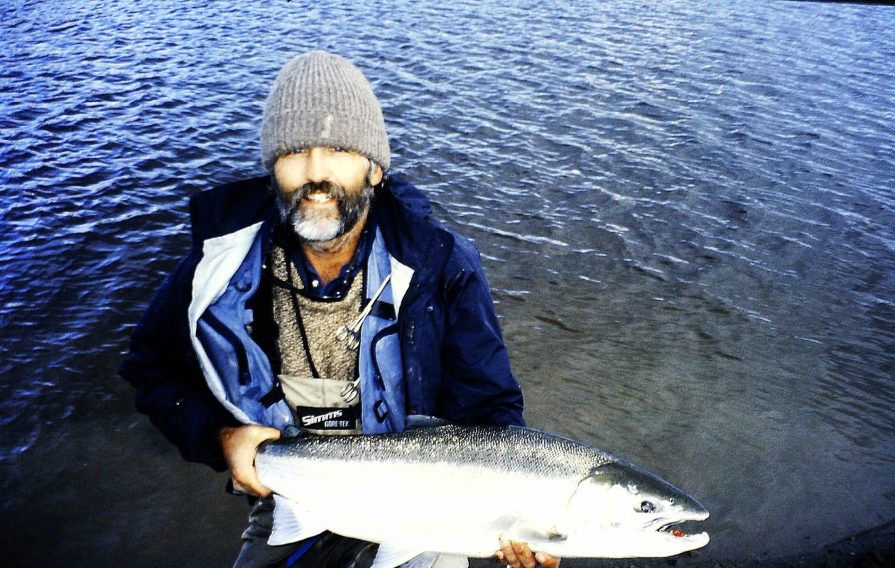 Jerry Kustich caught this steelhead on the Kvachina River in Kamchatka.