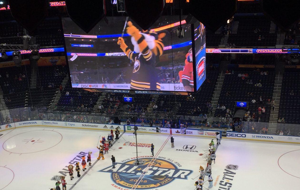 Sabretooth represents at the All-Star Game. (Mike Harrington/Buffalo News)