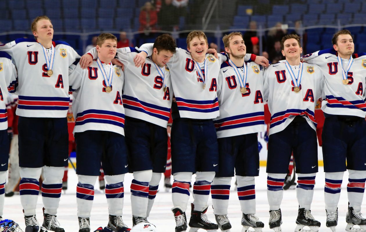 The U.S. took bronze for their third straight medal at the World Juniors. (Harry Scull Jr./Buffalo News)