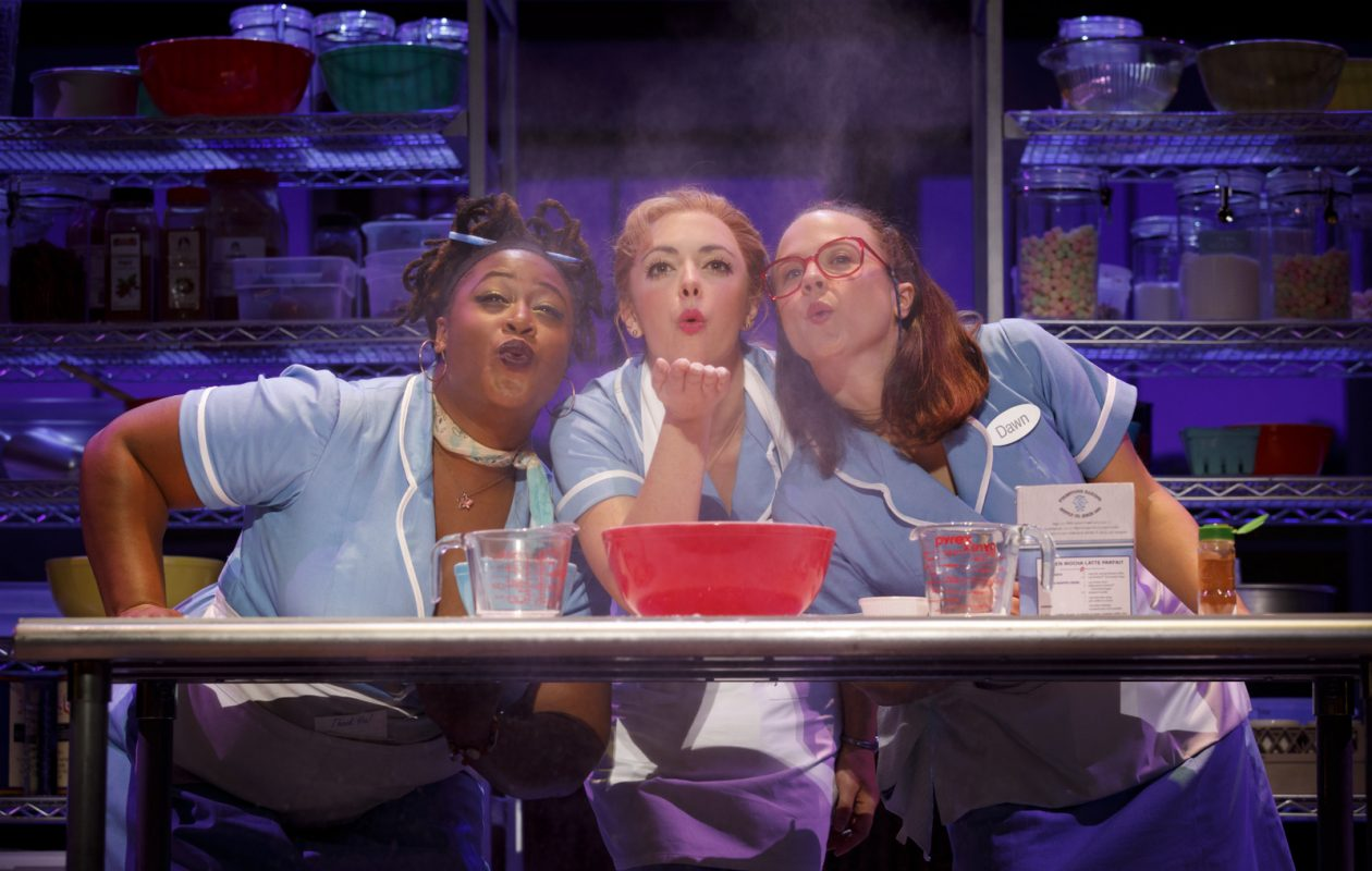 Charity Angel Dawson, left, appears along with Desi Oakley and Lenne Klingaman in the touring version of 'Waitress.'