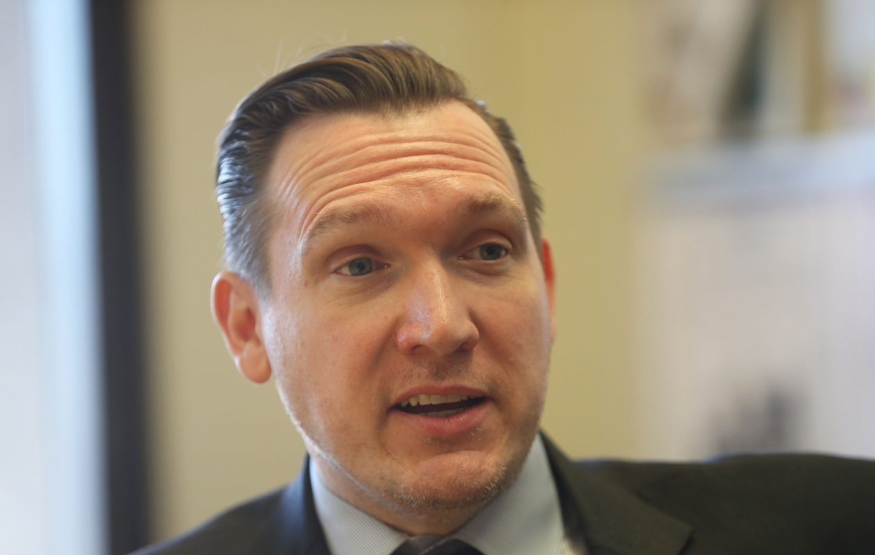 Grand Island Supervisor Nathan McMurray is emerging as the favorite of Democratic leaders when they convene Thursday to endorse a challenger against Rep. Chris Collins, the Republican incumbent. (Sharon Cantillon/Buffalo News)