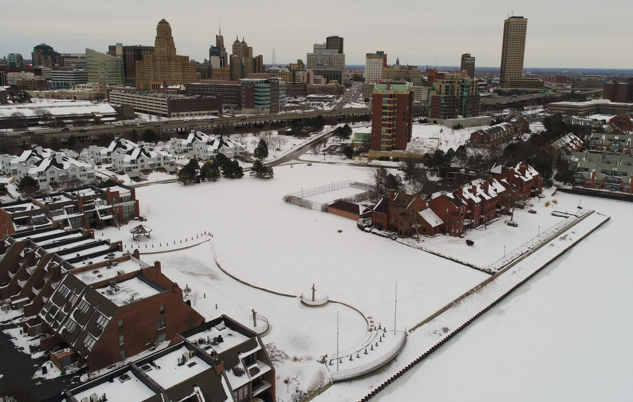 Ciminelli Real Estate Corp. is planning to construct 31 for-sale residences on one of the last remaining greenspace parcels within the Waterfront Village. (Derek Gee/Buffalo News)