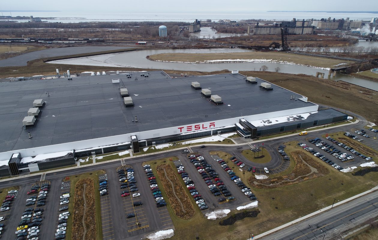 Tesla Inc. has promised to create 1,460 jobs at the RiverBend factory on South Park Avenue in Buffalo, in addition to 1,440 local jobs at its suppliers and service providers. (Derek Gee/Buffalo News)