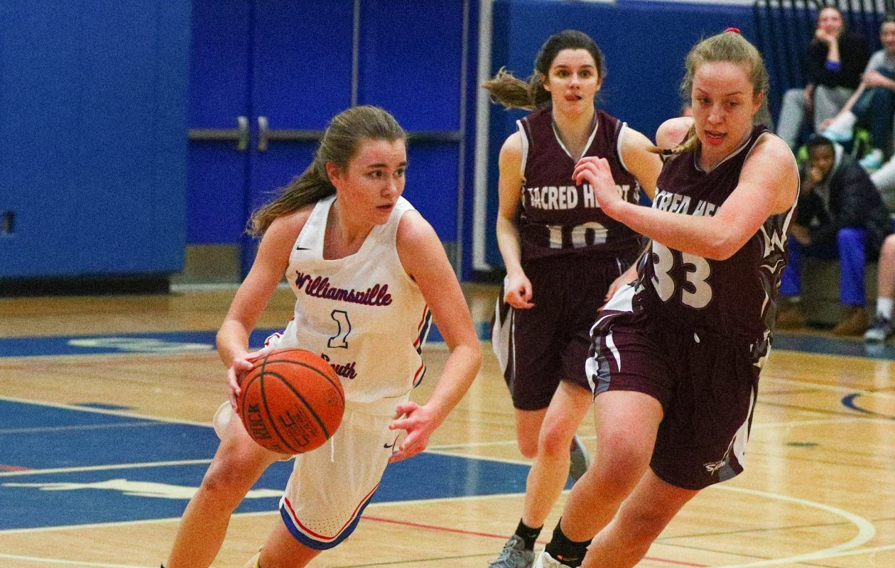 Hannah Dolan and Williamsville South are the unanimous No. 2 girls basketball large school in Western New York following their 67-42 win over No. 3 Sacred Heart last Wednesday. (James P. McCoy/Buffalo News)