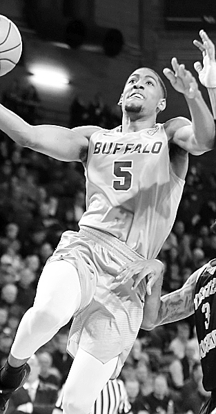 Universtiy at Buffalo guard CJ Massinburg drives to the basket against Western Michigan during first half action at Alumni Arena on Friday, Feb. 2, 2018. (Harry Scull Jr./ Buffalo News)