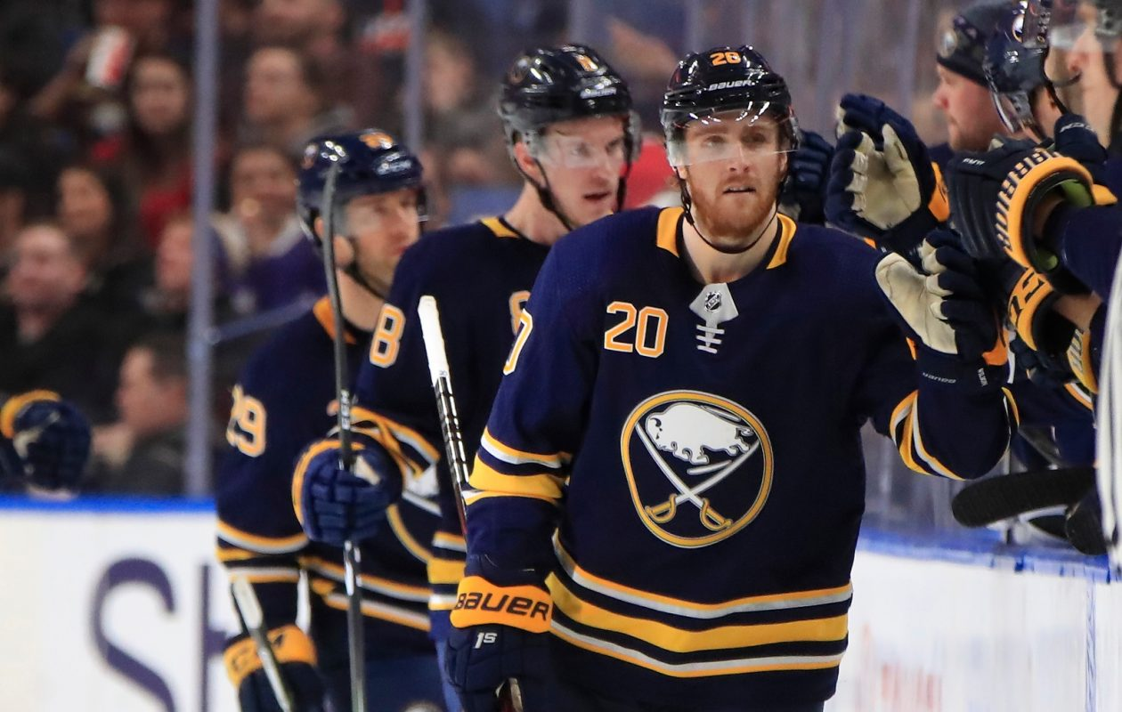 Sabres left wing Scott Wilson has celebrated four goals and seven points in the last 11 games. (Harry Scull Jr./Buffalo News)