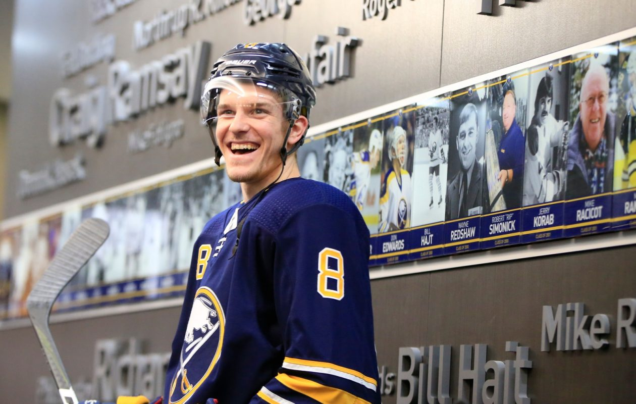 After examining organizational depth charts, Casey Nelson decided to sign with the Sabres. So far it's the right move. (Harry Scull Jr./Buffalo News)